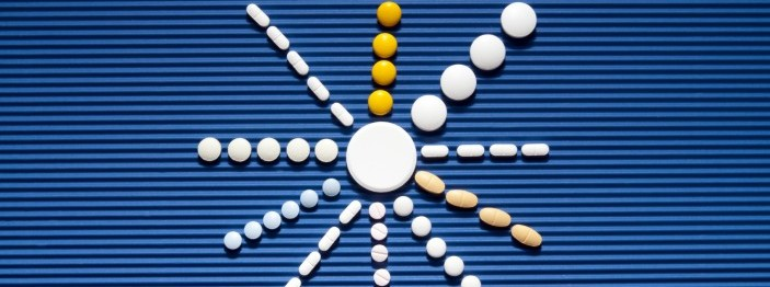 Sun made out of different pills